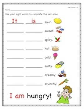 Kindergarten Sight Words Unit 2 Packet