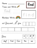 Kindergarten Sight Words (Unit 4 - Journeys)