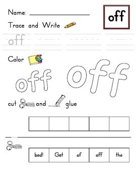 Kindergarten Sight Words (Unit 6 - Journeys)