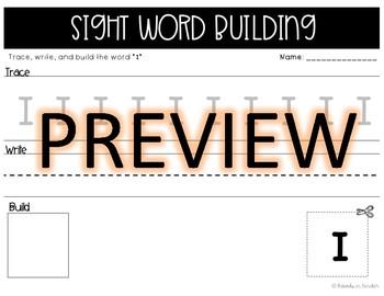 Kindergarten Sight Words - Unit One & Two Independent Activities