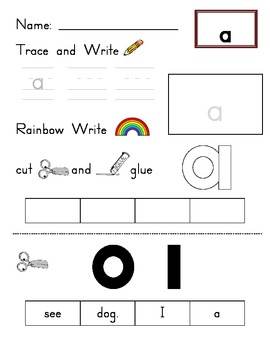 Kindergarten Sight Words (Units 1 and 2 - Journeys)