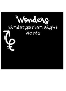 Kindergarten Sight Words - Wonders