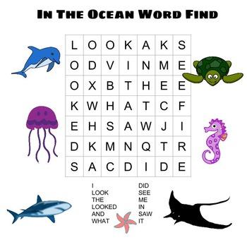 Sight-Words-Word-Find-Ocean-Theme {FREEBIE}