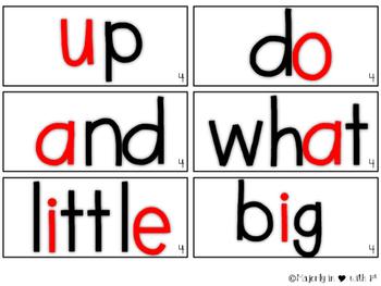 Word Wall Cards {Kindergarten}