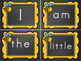 Kindergarten Sight Words - Word Wall Chalkboard Bumblebee Theme