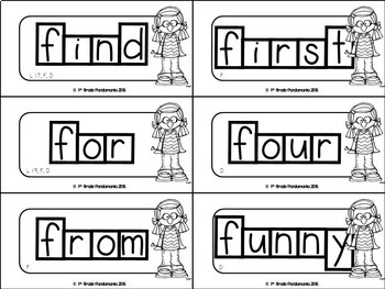 Kindergarten Sight Words Word Wall and Flash Cards
