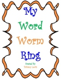 Kindergarten Sight Words-Word Worm Ring
