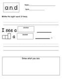 Kindergarten Sight Words (and)