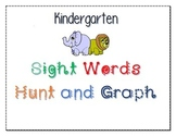 Kindergarten Sight Words Hunt and Graph