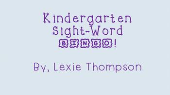 Kindergarten Sight Word Bingo!