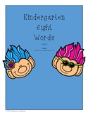 Kindergarten Sight words VOLUME 1 can we the at am it up no yes