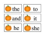 Kindergarten Sight words fall themed