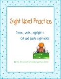 Kindergarten Sight words packet 3