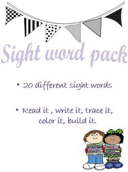Kindergarten Sightword Bundle
