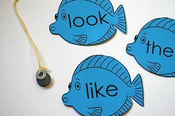 Kindergarten Sight Words - Fish Cards