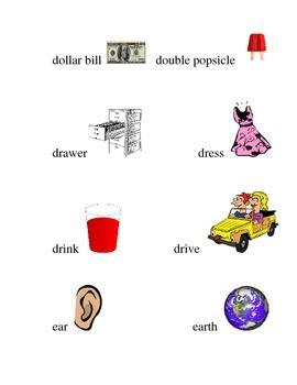 #11 Kindergarten Sight Words Matching Pictures