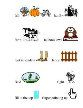 #13 Kindergarten Sight Words Matching Pictures