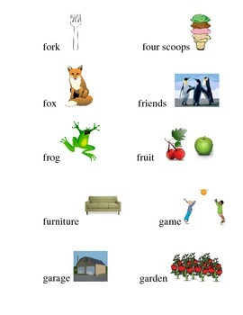 #15 Kindergarten Sight Words Matching Pictures