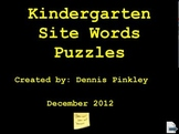 Kindergarten Site Words Puzzles a Pinkley Product