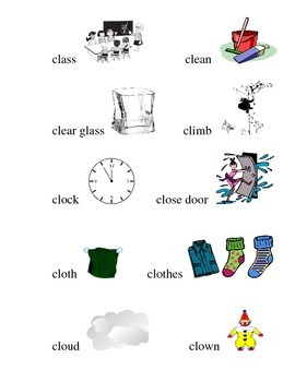 #6 Kindergarten Sight Words and Matching Pictures