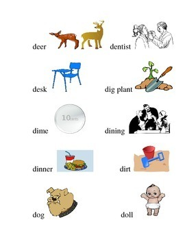 #10 Kindergarten Sight Words and Matching Pictures