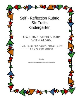 Kindergarten Six Traits Writing Rubric - Kid Friendly - Common Core Aligned