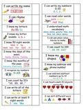 Kindergarten Skill Mastery Checkoff Sheet