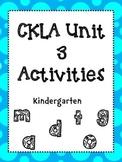 Unit 3 Kindergarten Skills Activities
