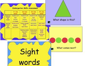Kindergarten Skills Assessment (314 Slides!) PowerPoint