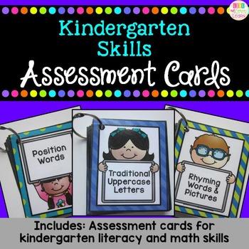 Kindergarten Skills: Assessment Cards