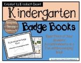 Kindergarten Skills Badge Book