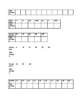 Kindergarten Skills Checklist