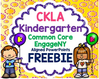 Kindergarten Skills PowerPoint, U1 Lesson 1 (ALIGNED to Amplify CKLA) *FREEBIE!*