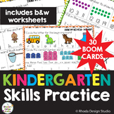 Kindergarten Skills Practice Math Worksheets BOOM Cards Bl