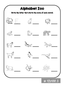 Kindergarten Skills Review Packet