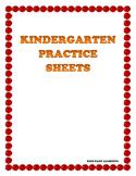 Kindergarten Skills Worksheet