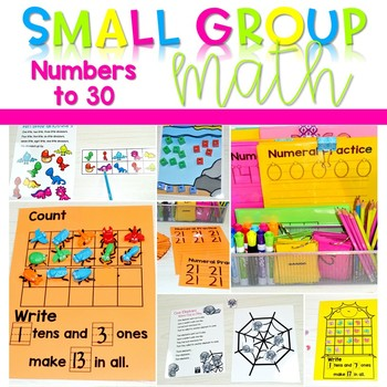 Kindergarten Small Group Guided Math Counting Objects to 30