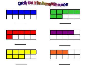 Kindergarten SmartBoard: Numbers To 10/Ten Frames