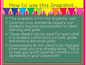 Kindergarten Snapshot for Common Core Student Accountability