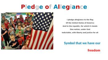 Kindergarten Social Studies - American Symbols Poiwerpoint