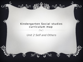 Kindergarten Social Studies Curriculum Map for Unit 2 Self and Others