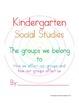 Kindergarten Social Studies Curriculum/Class Book (Now for