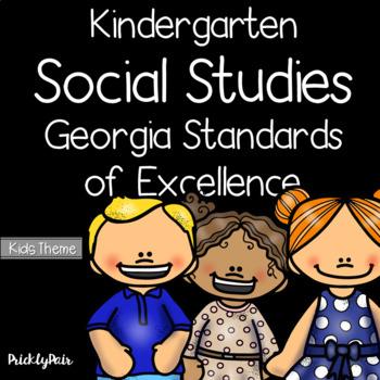 Kindergarten Social Studies GSE Georgia Standards of Excellence Posters -Kids