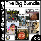 Kindergarten Social Studies Growing Bundle