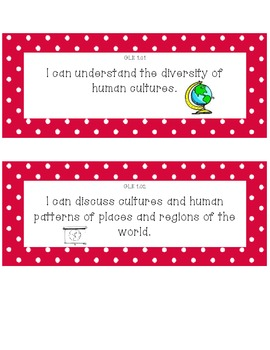 Kindergarten - Social Studies - I Can Posters - Tennessee