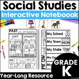 Kindergarten Social Studies - Interactive Journal - Distance Learning