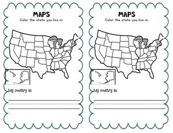 Kindergarten Social Studies Notebook