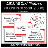 "Kindergarten Social Studies TEKS ""I Can"" Statement Posters"