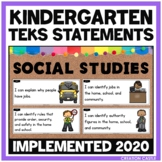 Kindergarten Social Studies TEKS Can and Will Standards Statements