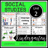 Kindergarten - Social Studies - Unit 2 - Economics, Govern